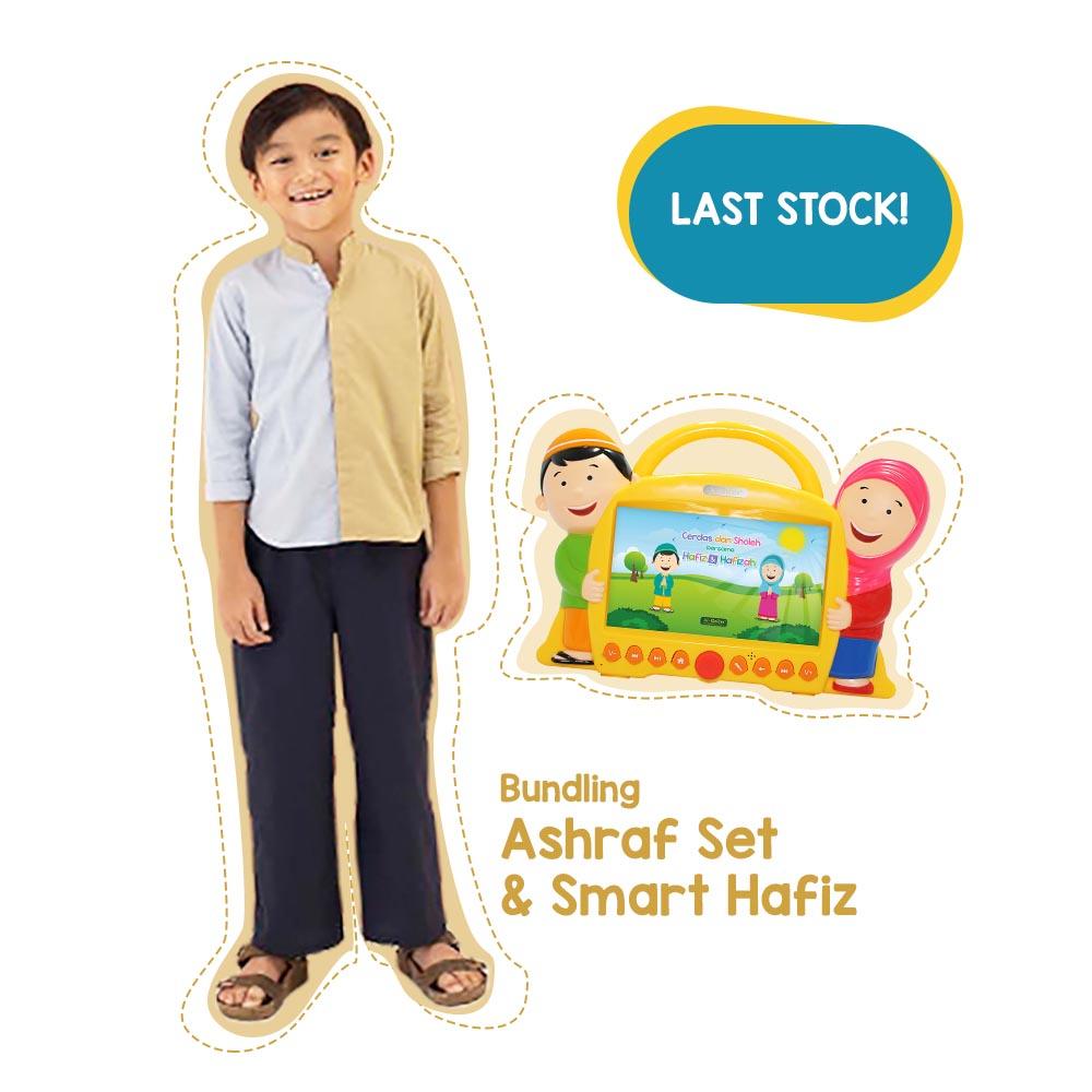 LAST STOCK - SMART HAFIZ VERSI 1 PLUS 1 SET HAFIZ HAFIZAH FASHION - HAFIZ (RANDOM) - SIZE 10